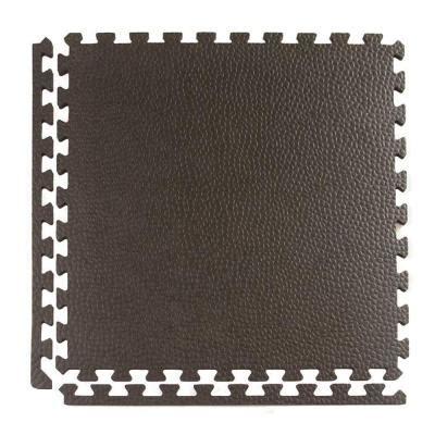 stalwart ultimate comfort 24 in x 24 in black foam