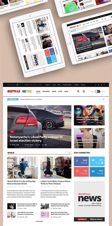 News Website Templates News Website Home Page Template Free Psd