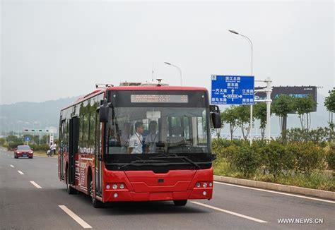 12-meter-long Electric Smart Bus Starts Road Test In