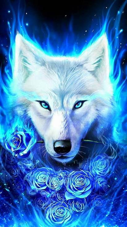 Wolf Galaxy Wallpapers Ice Wolves Rose Fire