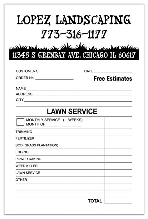 landscaping invoice template invoice