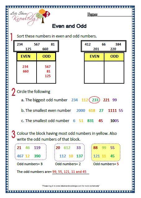 grade 2 maths worksheets part 1 2 more topics lets