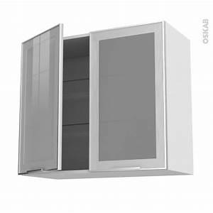 Meuble Haut Vitré Cuisine : meuble de cuisine haut ouvrant vitr fa ade alu 2 portes ~ Teatrodelosmanantiales.com Idées de Décoration