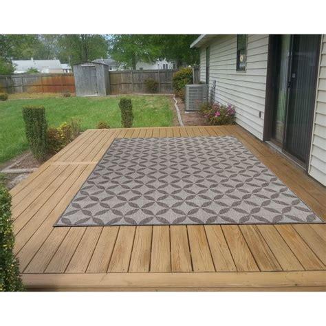 5x7 outdoor rug ottomanson jardin collection contemporary design gray
