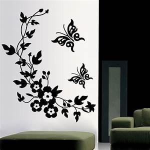 3D butterfly flowers wall sticker for kids room bedroom ...