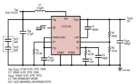 Dual Supercapacitor Backup Power Supply