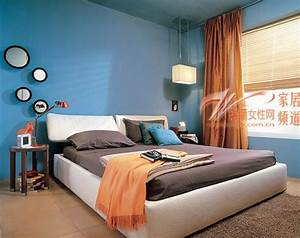 Blue bedroom wall color modern