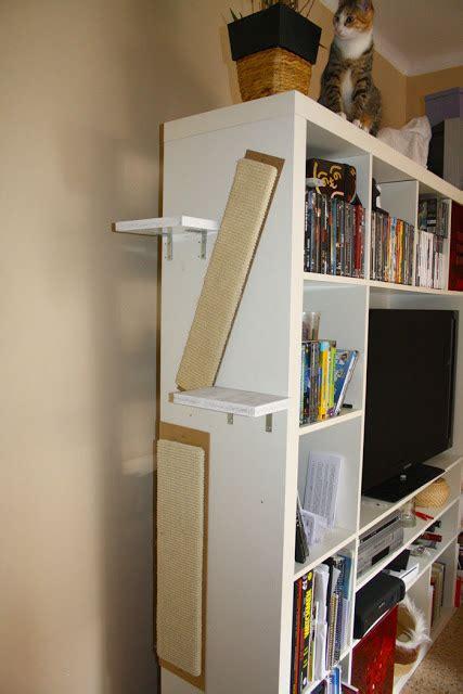 Tree Bookcase Ikea by Expedit Sideways Cat Tree Ikea Hackers