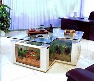 La décoration avec un meuble aquarium