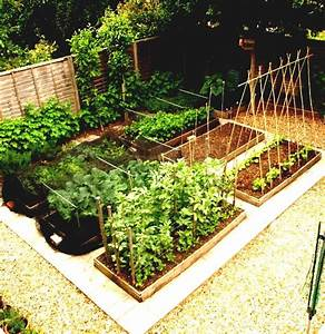Diy Small Raised Vegetable Garden Along Black Wood And