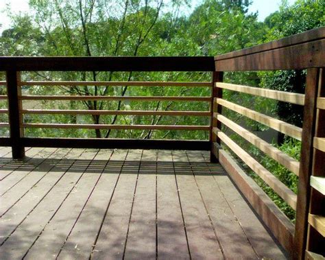Horizontal Deck Railing Ideas by Horizontal Deck Rail Yard
