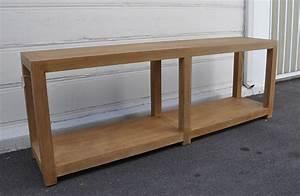 Long Napa Oak Console Table