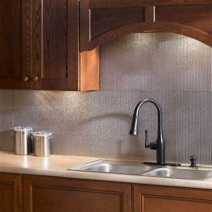 fasade 24 in x 18 in rib pvc decorative backsplash panel With kitchen colors with white cabinets with large metal wall art panels