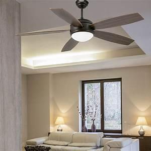 Ventilateur Plafond Bois : ventilateur plafond lumiere vanu marron 1 lumi re e27 ~ Premium-room.com Idées de Décoration