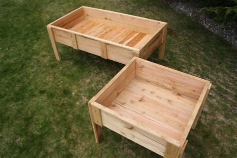 raised elevated cedar garden bed box 3x3x12 quot made in
