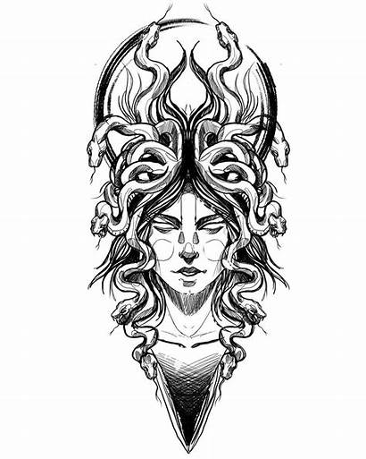 Medusa Tattoo Stencil Outline Uchiha Kiyomi Encrypted