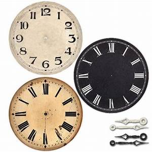 6 In  Antique Clock Dial  U0026 Hands Kit
