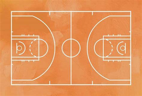 basketball court orange paint background fine art print