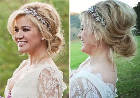 kelly clarkson wedding hair side view  wedding