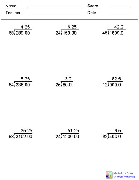division problems division worksheets printable division worksheets for teachers