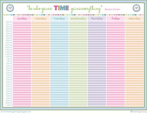 Cute Printable Weekly Schedule Template