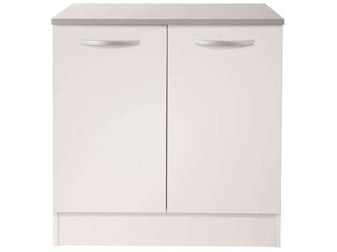 meuble bas cuisine hauteur 80 cm meuble bas 80 cm 2 portes spoon coloris blanc vente de