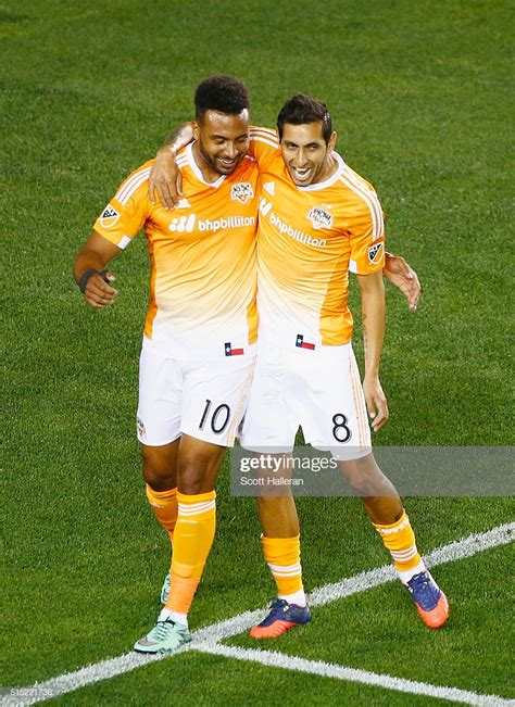 Barnes Houston Dynamo by Giles Barnes And Cristian Maidana Of The Houston Dynamo