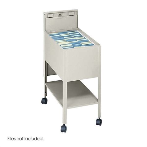 Tub Files by 1 Drawer Mobile Letter Metal Tub File With Lock