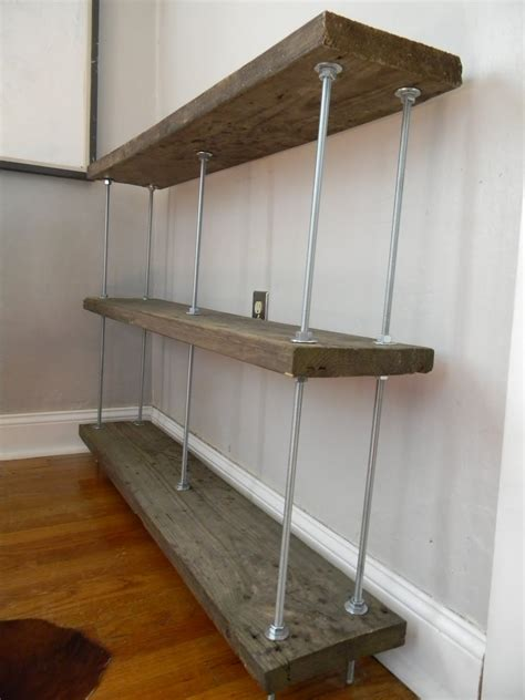 wooden shelf with hanging rod secondhand reclaimed wood shelf and a new of west