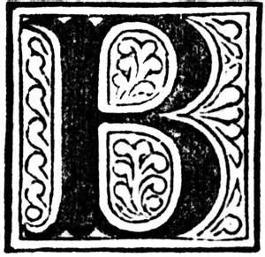 Decorative Letter B Clip Art