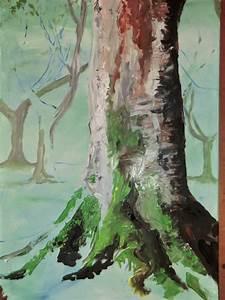 Bilder Bäume Gemalt : silmarilknittings studio viento baum im nebel mit moos ~ Orissabook.com Haus und Dekorationen