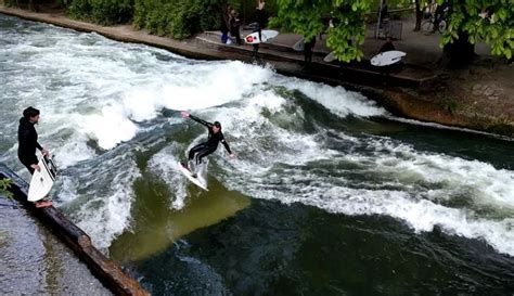 Englischer Garten Surfers by Munich Germany Tangled Up In Food