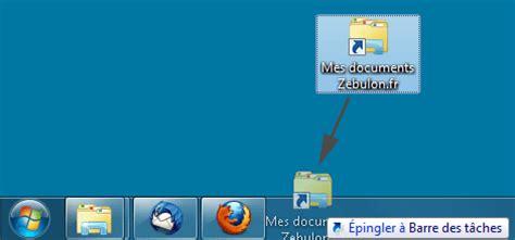 cr馥r un raccourci sur le bureau 201 pingler un dossier 224 la barre des t 226 ches de windows 7