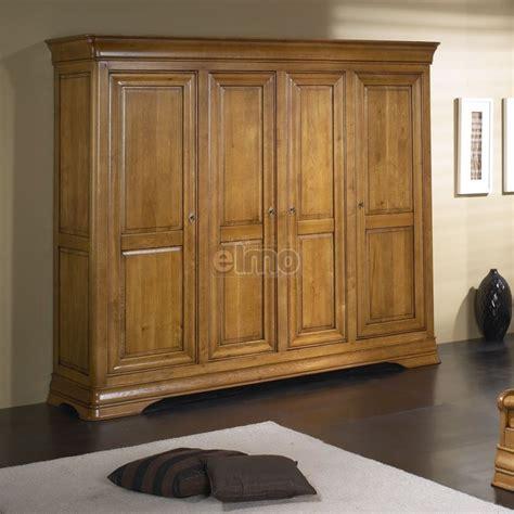 armoire chambre 4 portes armoire de chambre 2 à 4 portes merisier massif style