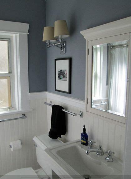white bathroom  color accent beadboard bathroom
