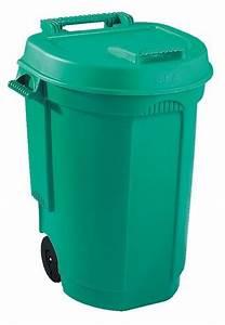 Conteneur Poubelle Brico Depot : poubelle roulettes 110 l vert brico d p t ~ Melissatoandfro.com Idées de Décoration