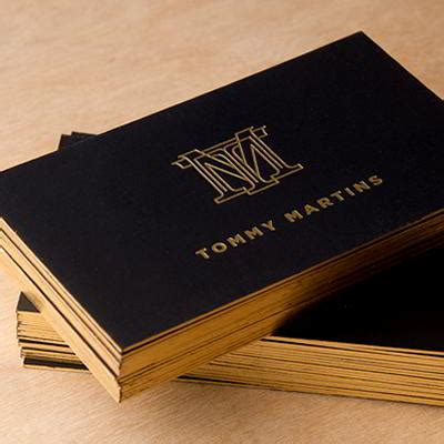 metallic business cards mpk graphics