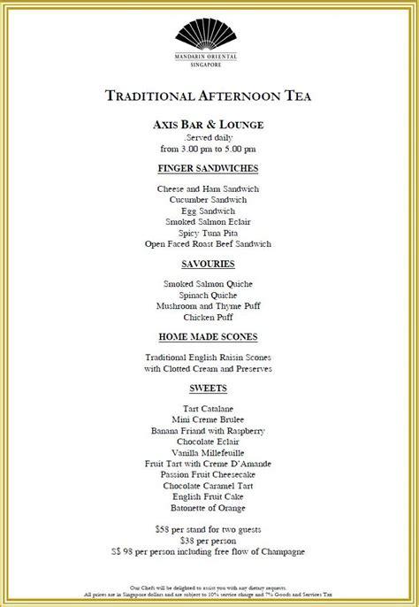 tea menu afternoon tea new english afternoon tea menus