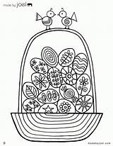 Coloring Easter Basket Empty Pages Egg Popular sketch template