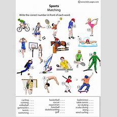 Sports Matching Worksheet