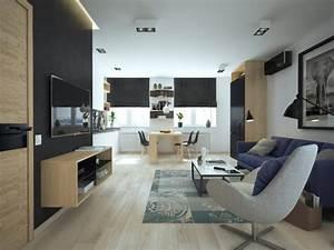 Aménagement Petit Appartement : am nager et d corer un appartement de moins de 50m2 ~ Nature-et-papiers.com Idées de Décoration