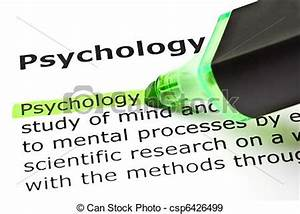 Stock Photographs of 'Psychology' highlighted in green ...