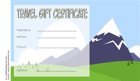 travel gift certificate editable  modern designs