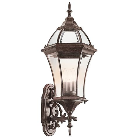 kichler outdoor lighting kichler outdoor wall light with clear glass in tannery