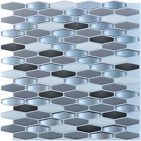 Adhesive Backsplash Tiles For Kitchen - art3d peel and stick kitchen backsplash wall tile pack of 6 ebay