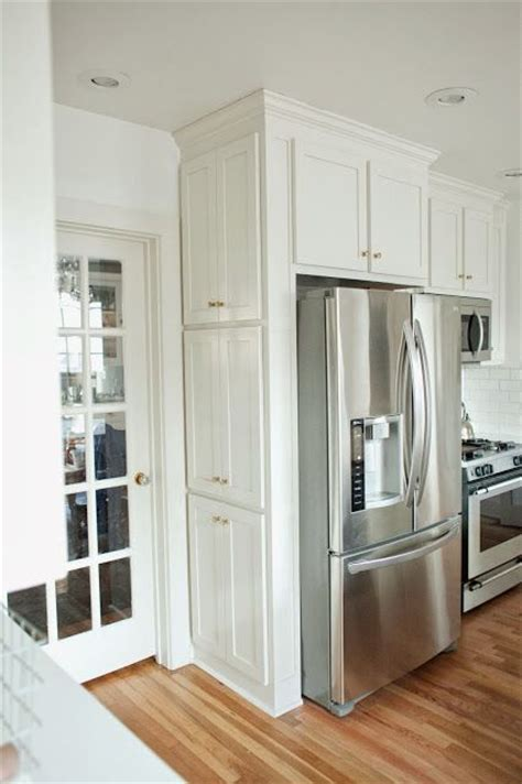 side of kitchen cabinet ideas shallow cabinets on the side of the fridge for spices and