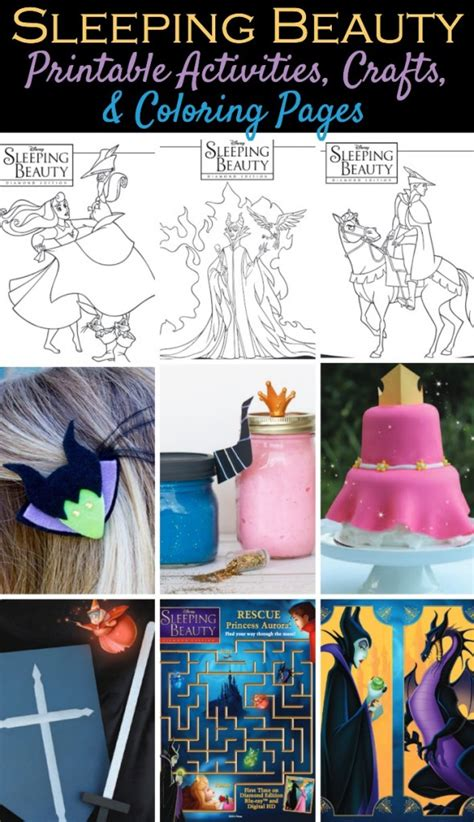 disneys sleeping beauty printable activities coloring