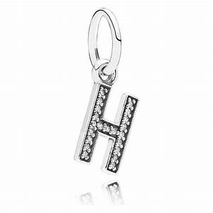 Pandora letter h pendant charm 791320cz pandora from for Letter h charm