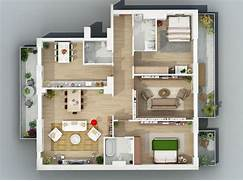 Home Layout Design Ideas Apartment Designs Shown With Rendered 3D Floor Plans