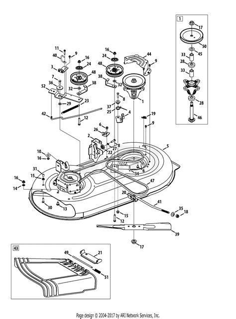 mtd ans  parts diagram  mower deck